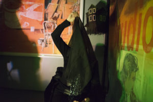 Kay Turner performs What a Witch in Brooklyn, NY, on Saturday, Nov. 7, 2015. Photograph by Andrew Hinderaker